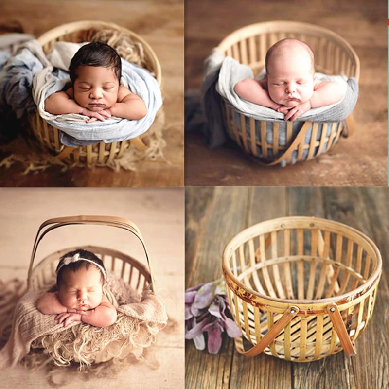 Newborn Photography Prop Photography Baby Prop Photo Props Baby Studio Woven  Weave Retro Basket  Posing Newborn Milestone Shoot