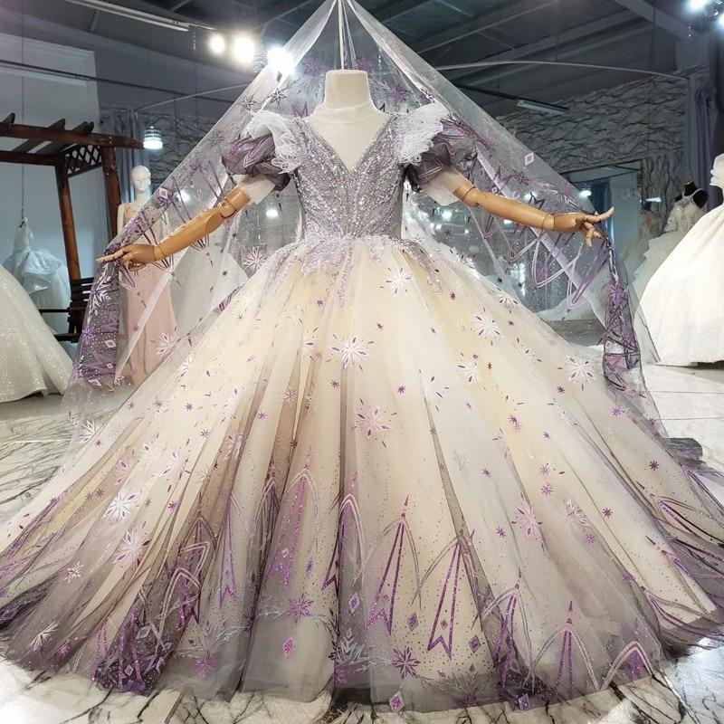 فستان سهرة تول مزين بالورود ، مصنوع حسب الطلب ، أكمام لامعة ، زخارف نباتية ثلاثية الأبعاد ، فستان مشترك للفتيات
