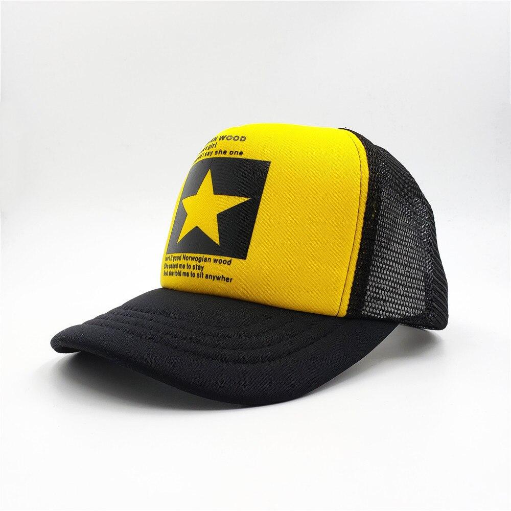 Mode Marke Pentagramm Baseball Kappe Frauen Outdoor Baseball Hut Atmungsaktiv Männer Frauen Sommer Mesh Cap Baseball Caps
