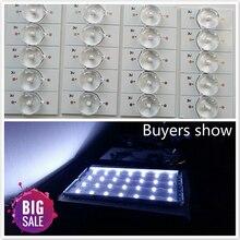 20 pièces 3V SMD lampe perles avec lentille optique Fliter pour 32-65 pouces LED TV réparation