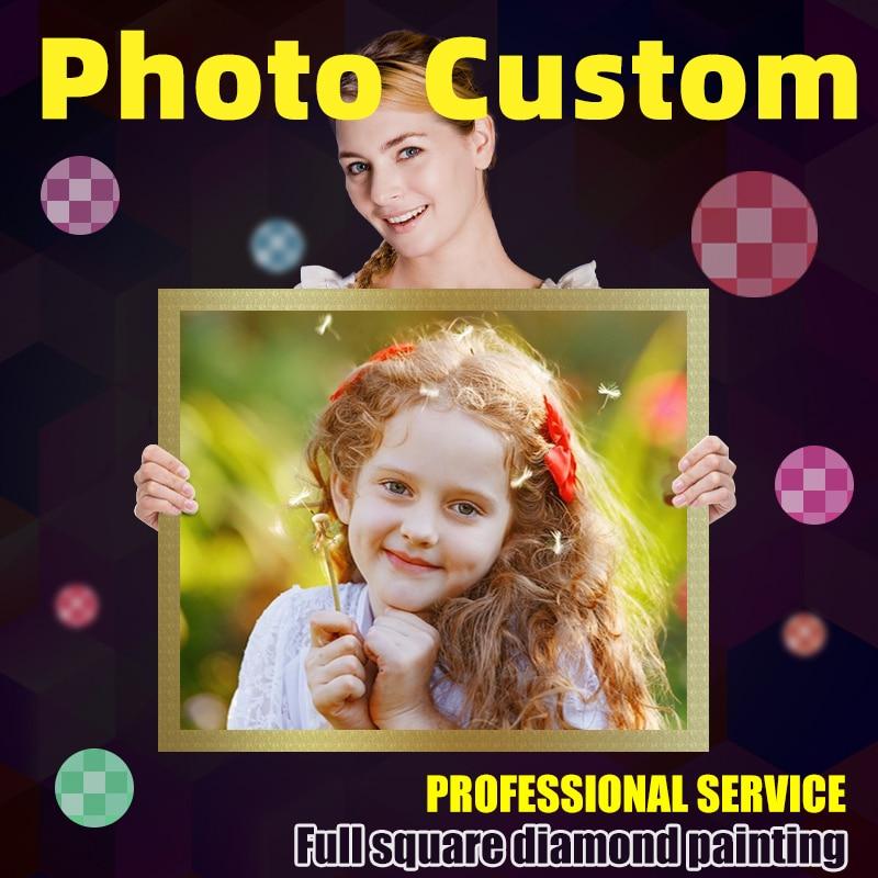 Personalización de foto con pintura de diamante 5D, cuadro con imagen completa...