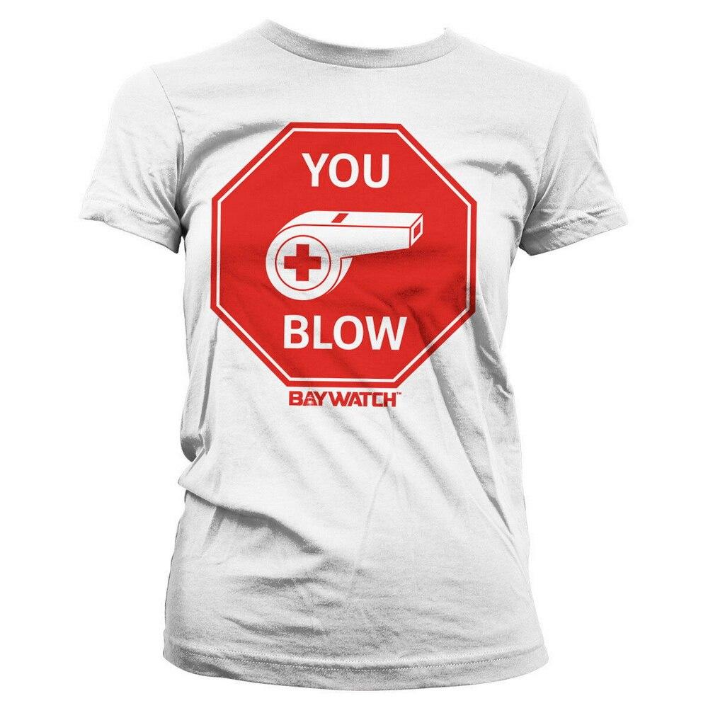Camiseta de mujer con licencia oficial Baywatch- You Blow tallas S-Xxl