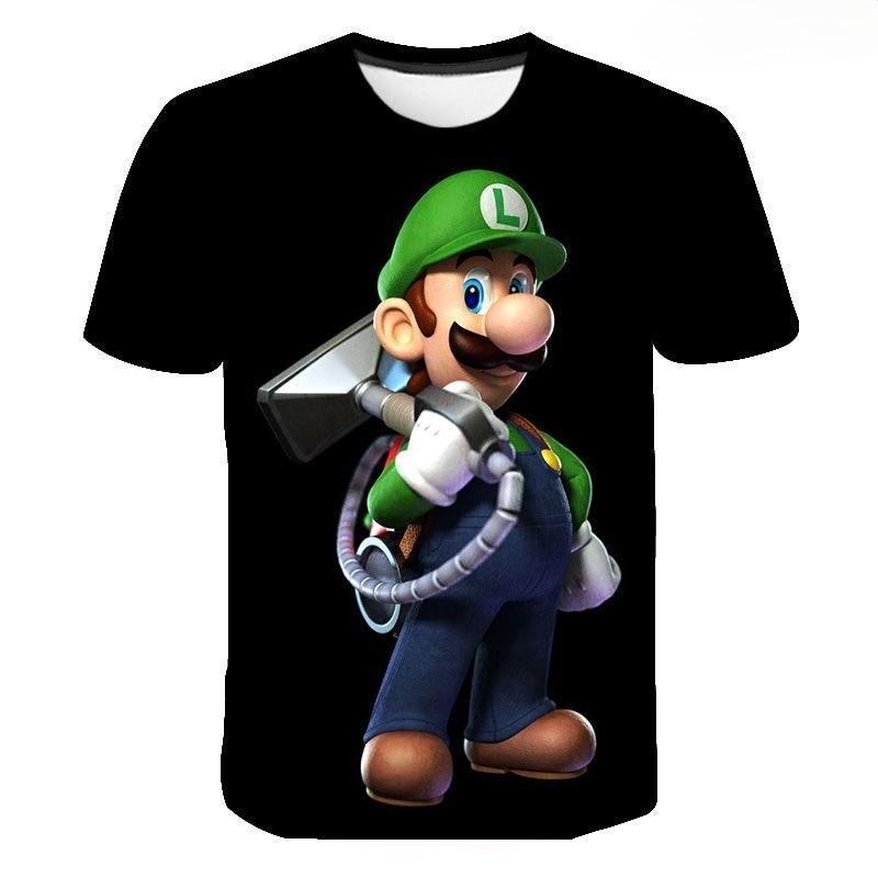 Camiseta cómoda de alta calidad, nueva moda aleatoria, Luigis Mansion, S-3xl, 2021