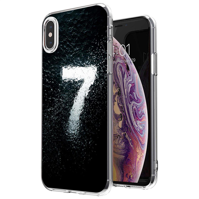 Black Letter Lucky Number Soft Bag Case For iPhone 11 Pro 4 4S 5 5S SE 5C 6 6S 7 8 X 10 XR XS Plus Max For iPod Touch