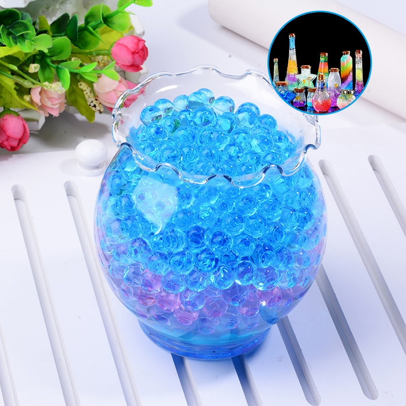 3000 Uds. Bola de pintura de agua de cristal suave con forma de perla, cuentas de agua de suelo, lodo de Gel Bio, Bolas Mágicas de gelatina, decoración del hogar de cristal
