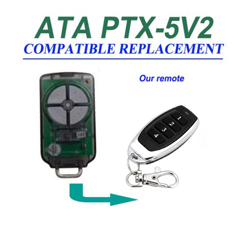 10 piezas para ATA PTX5v2 PTX5V1 compatible puerta de garaje Control DE triocódigo fino