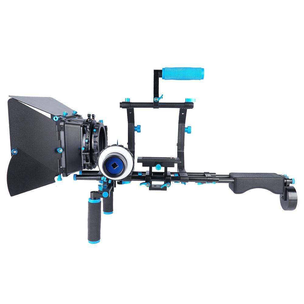 YELANGU-كاميرا فيديو احترافية D201 ، DSLR ، حامل كتف ، منصة DSLR مع التركيز ، مع صندوق مات