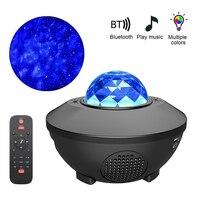 Романтическая проекционная лампа, цветной проектор звездного неба, Галактический Ночной светильник, детский музыкальный проигрыватель ...