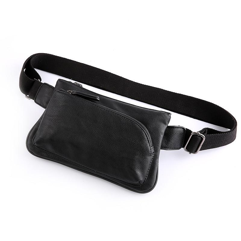 Men's waist bag 2020 pu leather chest bag men's balt bag banana diagonal bag small messenger mobile phone shoulder male bag new