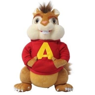 25cm plush Alvin The Chipmunks Lucky doll good quality cute toy Comfortable pillow Christmas Halloween Festival gift for kid
