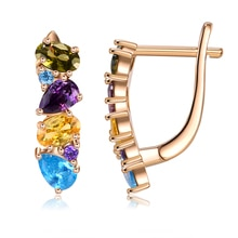 INALIS Colors Earrings For Women Cubic Zirconia Design Stud Earring Fashion Jewelry Valentine's Day