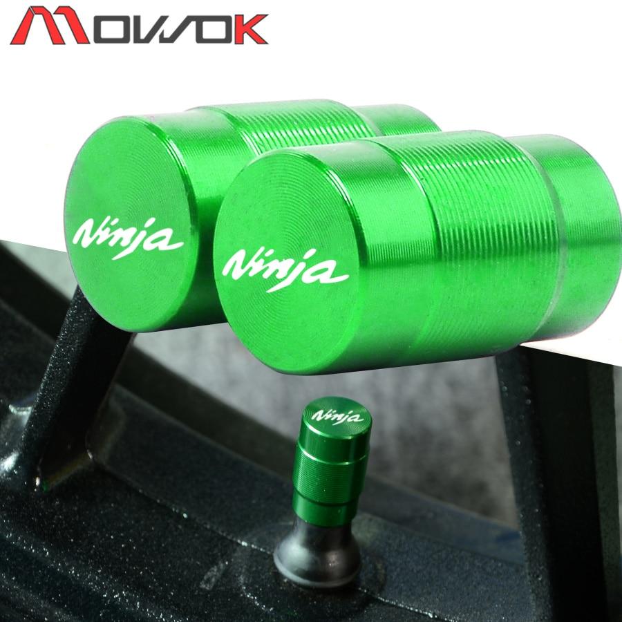 Для KAWASAKI NINJA ninja 400 650 300 250 250R ZX14R ZX10R ZX6R крышки клапанов для колесных шин мотоцикла CNC алюминиевые воздухонепроницаемые крышки