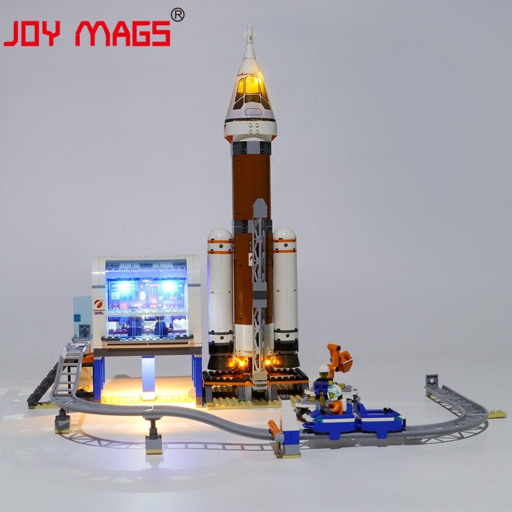 Alegria mags led kit de luz para a série da cidade espaço profundo foguete e lançamento conjunto de iluminação controle compatível com 60228 nenhum modelo