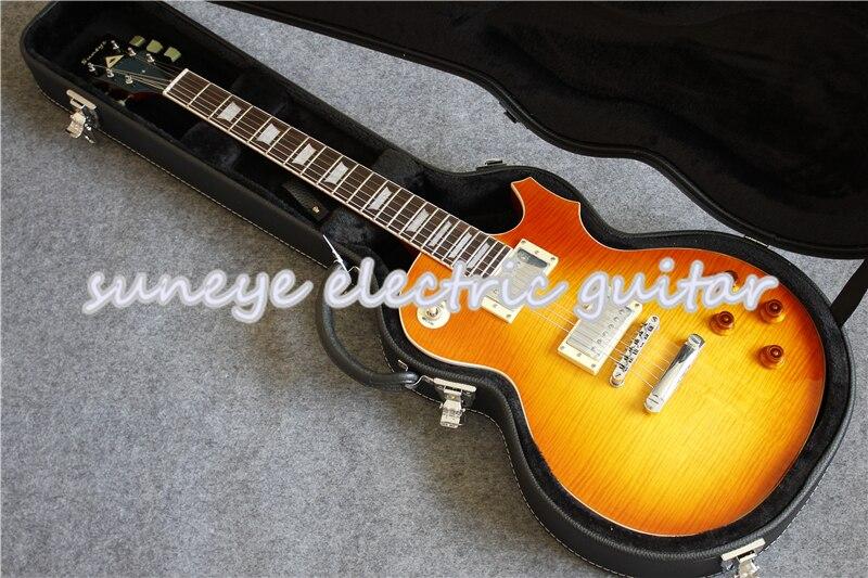 Suneye-Guitarra eléctrica de caoba sólida, cuerpo estándar, incrustaciones de perlas, diapasón de...