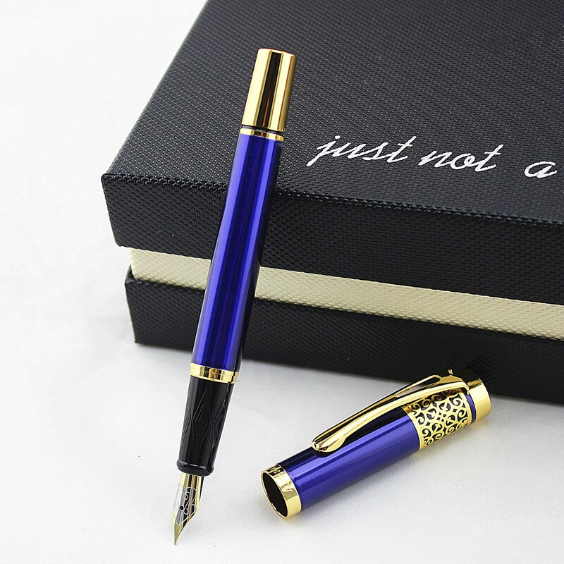 Женская Классическая подарочная ручка 8013 мм перо каллиграфическая ручка высококачественная металлическая перьевая ручка Роскошные черни...