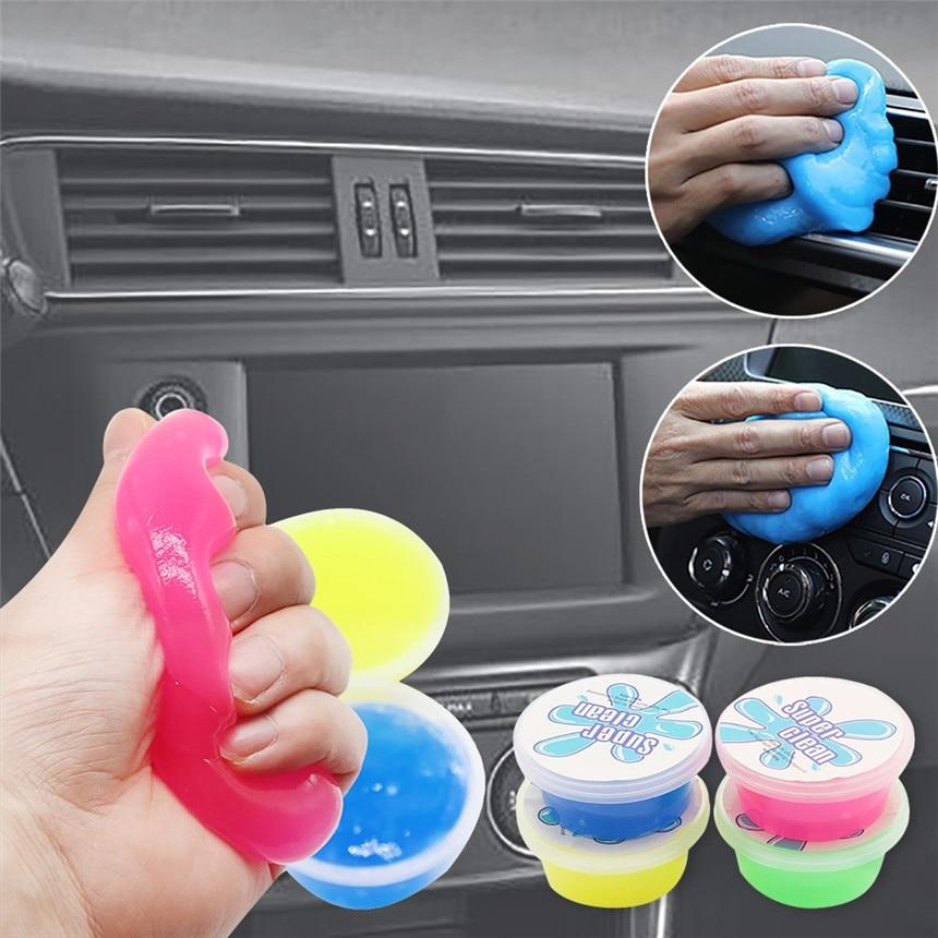 RUNDONG Magic Soft Sticky pegamento de limpieza Slime polvo Dirt Cleaner para la limpieza del coche suministros No irritante olor y seguridad