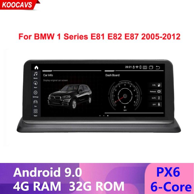 """10,25 """"PX6 Android 9,0 Pantalla de coche de 6 núcleos para BMW E81 E82 E87 E88 GPS Navi estéreo WIFI 4G + 32G RAM Google BT SWC Idrive"""
