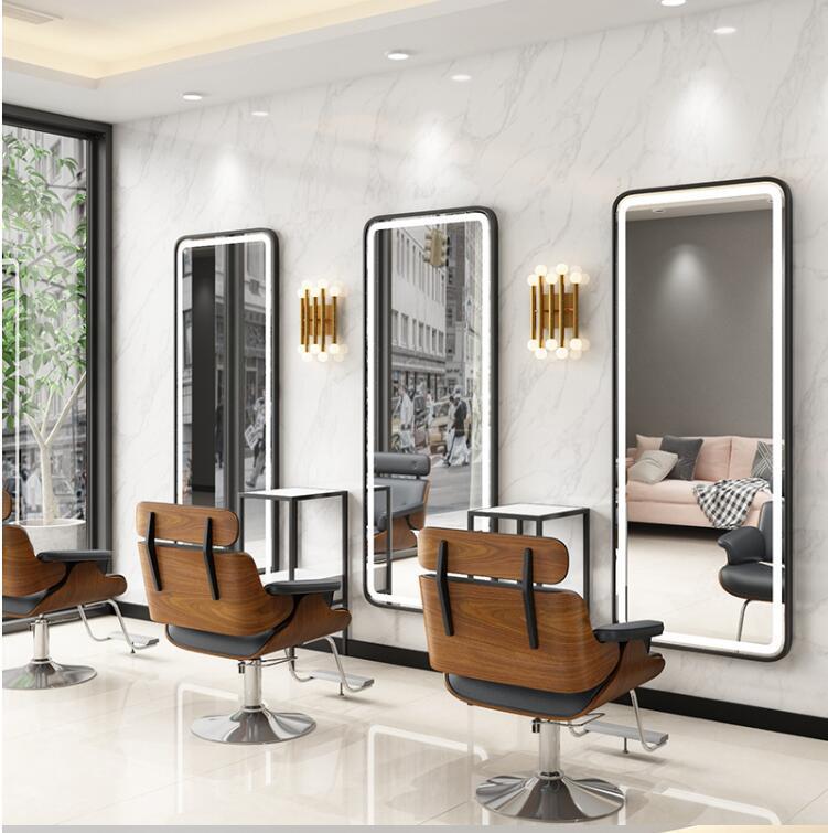 Парикмахерское зеркало в магазине интернет-знаменитость Парикмахерская макияж зеркало парикмахерский салон специальные прилив стены про...