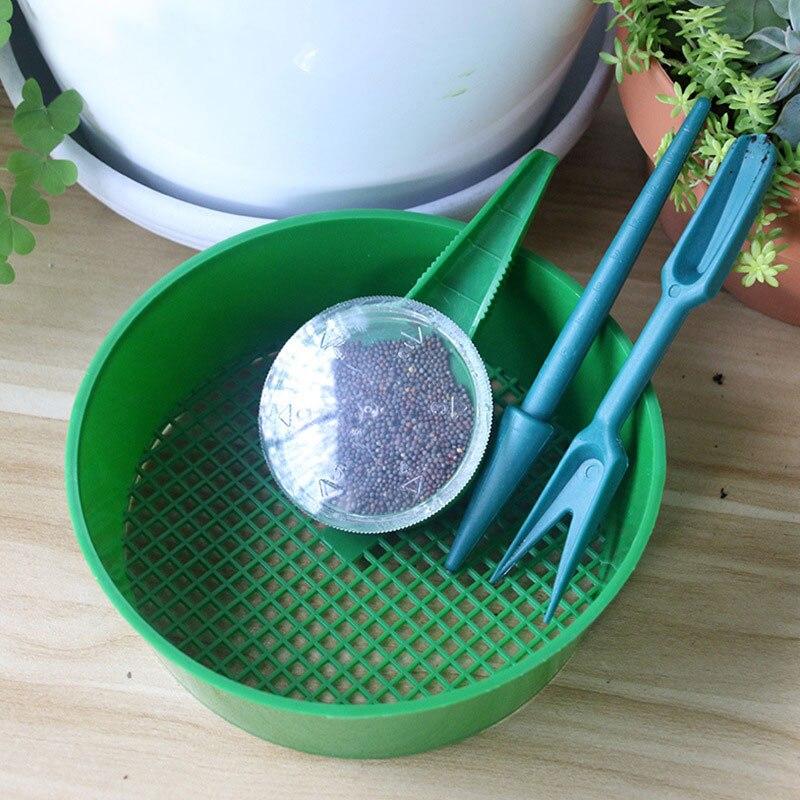 4pcs/set Mini Seeder and Plant Migration Tool Nursery Plant Seedling Tools Kit Garden Transplanting Planting Gardening Tools