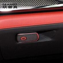 Car Styling Carbon Fiber For BMW M2 M3 M4 M5 X5M X6M Interior Auto Accessories Passenger Storage Box Decoration Cover Stickers