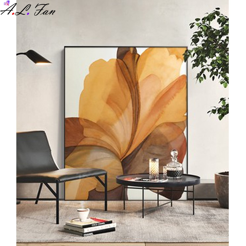 Modern minimalist abstract decorative painting living room sofa background wall  porch bedroom floor light luxury
