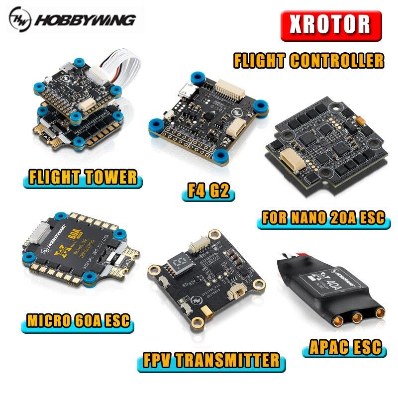 Original Hobbywing Xrotor F4G2/F4G3 controlador de vuelo y para Nano 20A/Micro 60A/APAC sin escobillas ESC 25 /transmisor de vídeo 200mW