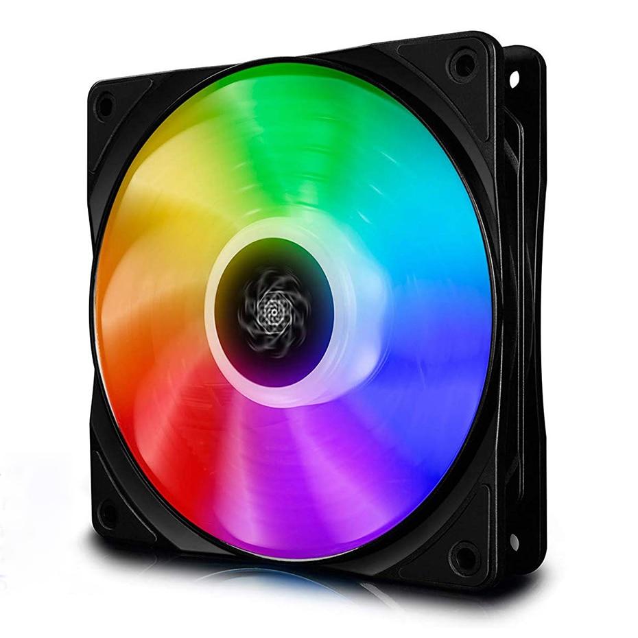 DEEPCOOL CF120 120 مللي متر عنونة RGB مروحة 5V 3PIN RGB واجهة الكمبيوتر حالة وحدة المعالجة المركزية مراوح التبريد هادئة ل 3pin ADD-RGB رؤوس