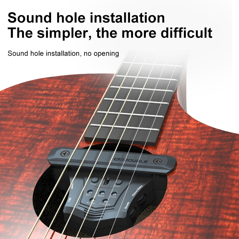 No Need To Link Speakers Wireless Guitar Pickup Reverberation Delay Pickup With Microphone Speaker Adjust The Volume Double G0 enlarge
