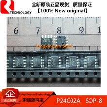 P24c02a sop-8 24c02 24c02a smd cmos 2 k 2 fios série eeprom 100% original novo