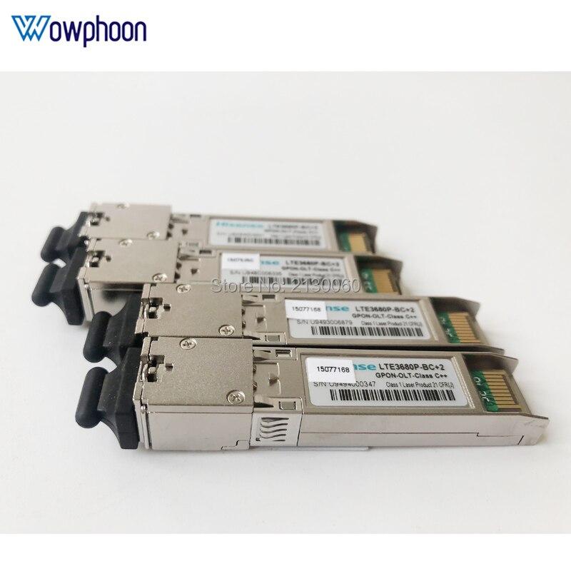 5 módulos originais de hisense LTE3680P-BC + 2 gpon-olt-class c + + sfp, gpon olt classe c + + para gc8b gcob