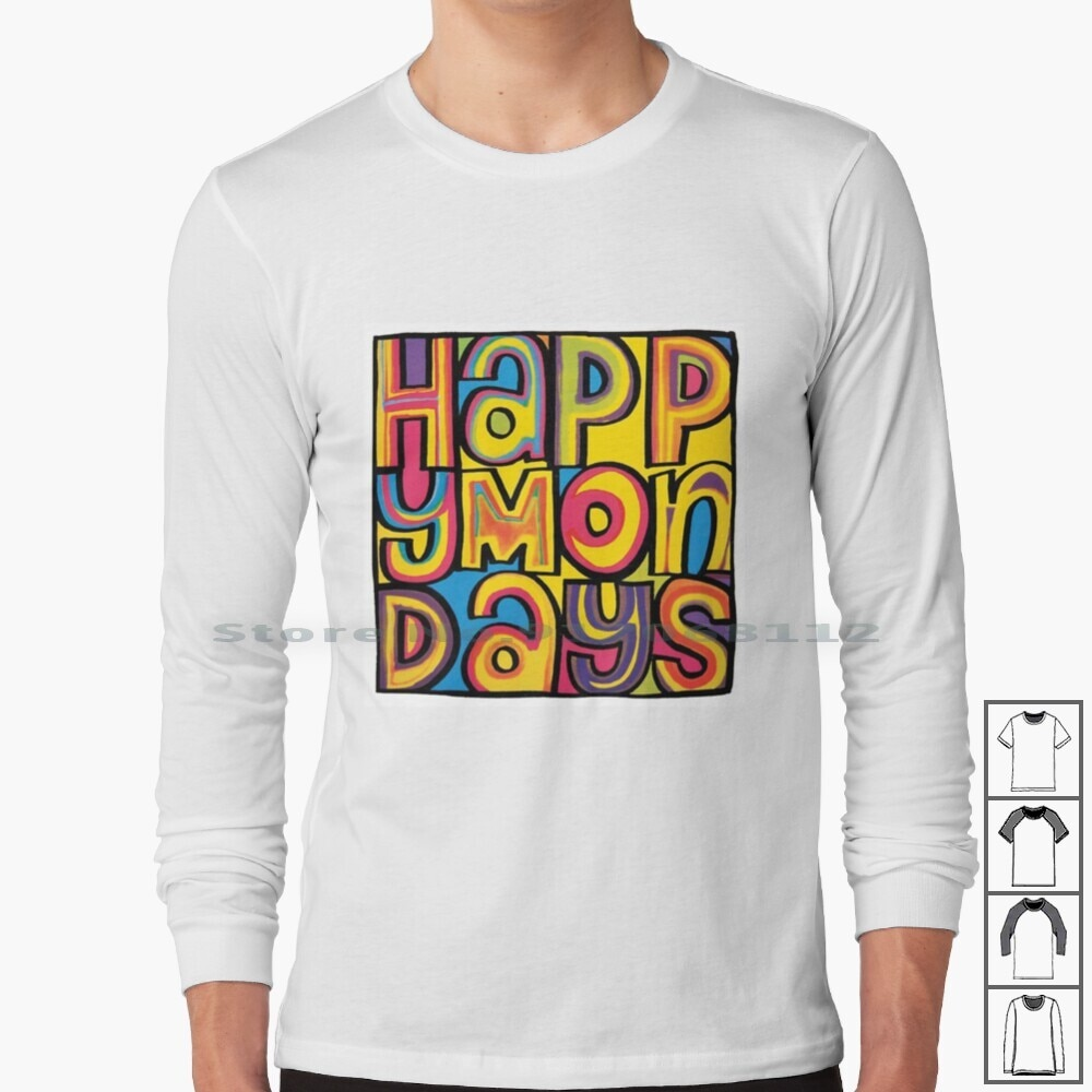 Happy Mondays Long Sleeve T Shirt Happy Mondays Madchester Factory New Order Joy Division Cubik 808 State Uk Party People Bummed