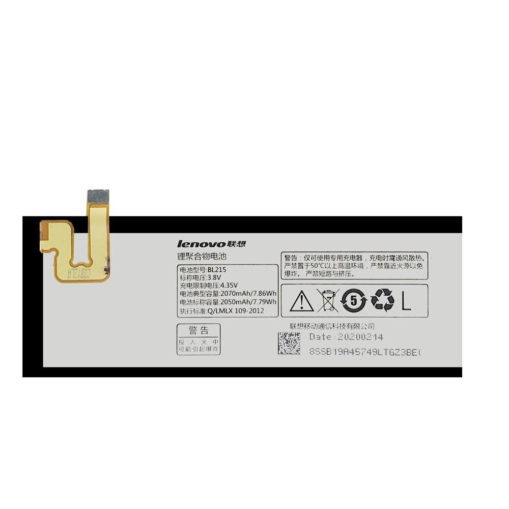 20pcs/lot Original Battery BL215 For Lenovo Vibe X S960 S968T High Quality Li-ion Phone Batteries AKKU In Stock 2070mAh enlarge