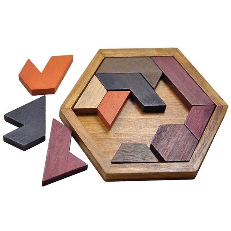 quebra cabeca de madeira formato geometrico brinquedo educacional para criancas e