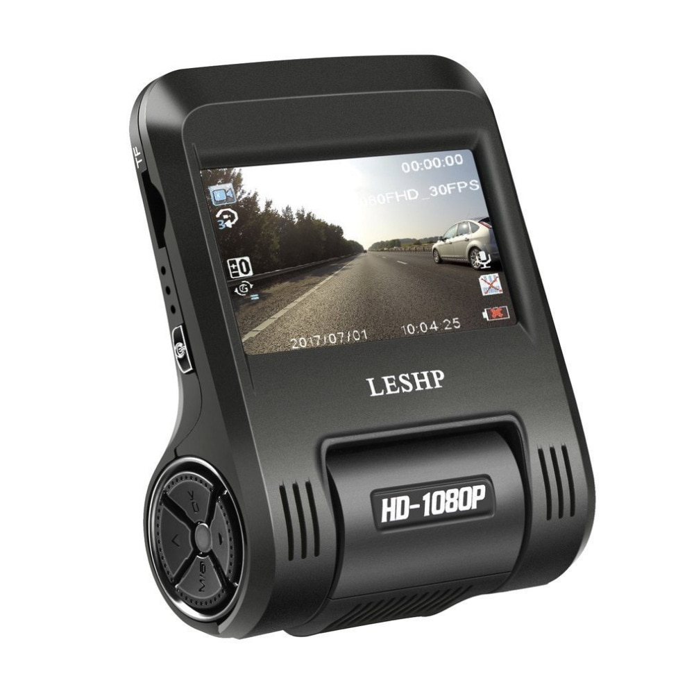 LESHP, cámara de conducción para coche de 2,4 pulgadas, DVR 1080P, cámara de salpicadero, cámara para salpicadero, cámara con WiFi incorporado de 170 grados, lente LCD de 200MP