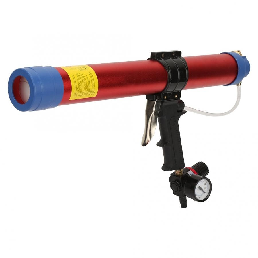 600ml Macio Cola Pistola de Ar Pistola Pneumática Selante Calafetagem Ferramenta Mão com Medidor de Velocidade para a Decoração Arquitetônica