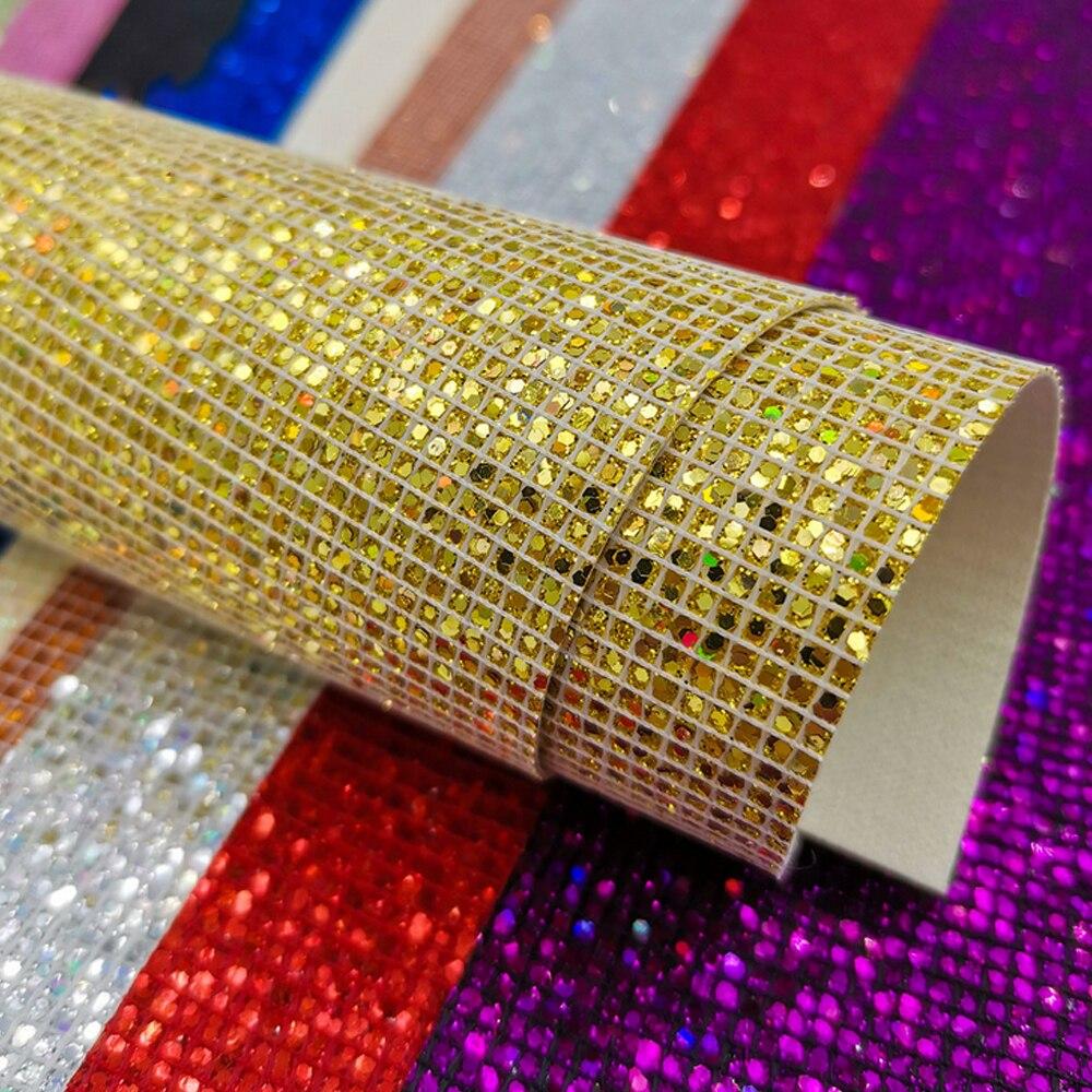 10 Uds colores surtidos brillante con lentejuelas brillantes de cuero telas hojas para hacer bricolaje pendientes teléfono clave cadenas 20x15cm