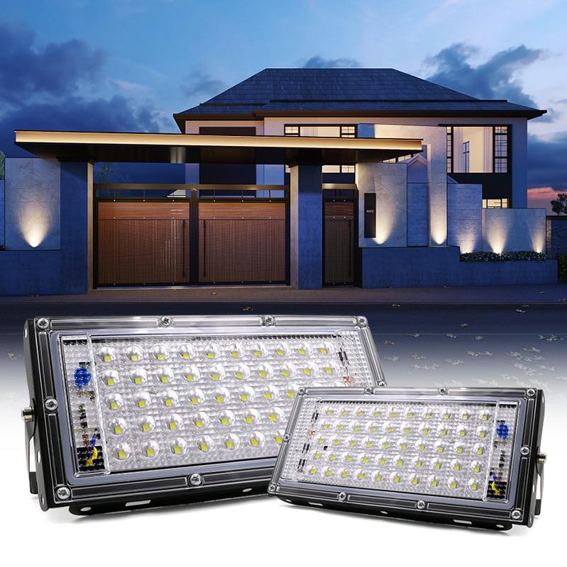 Foco de luz LED Ip65 impermeable de 50W para exteriores, iluminación de jardín, Reflector Led de 220V CA, 240V, Reflector de luz fundida