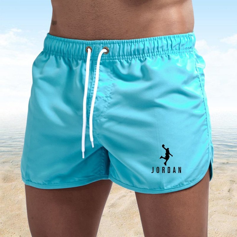 Man Fitness Sweatpants Shorts 2021 Summer Gyms Workout Male Breathable Mesh Quick Dry Sportswear Jogger Beach Brand Short Pants