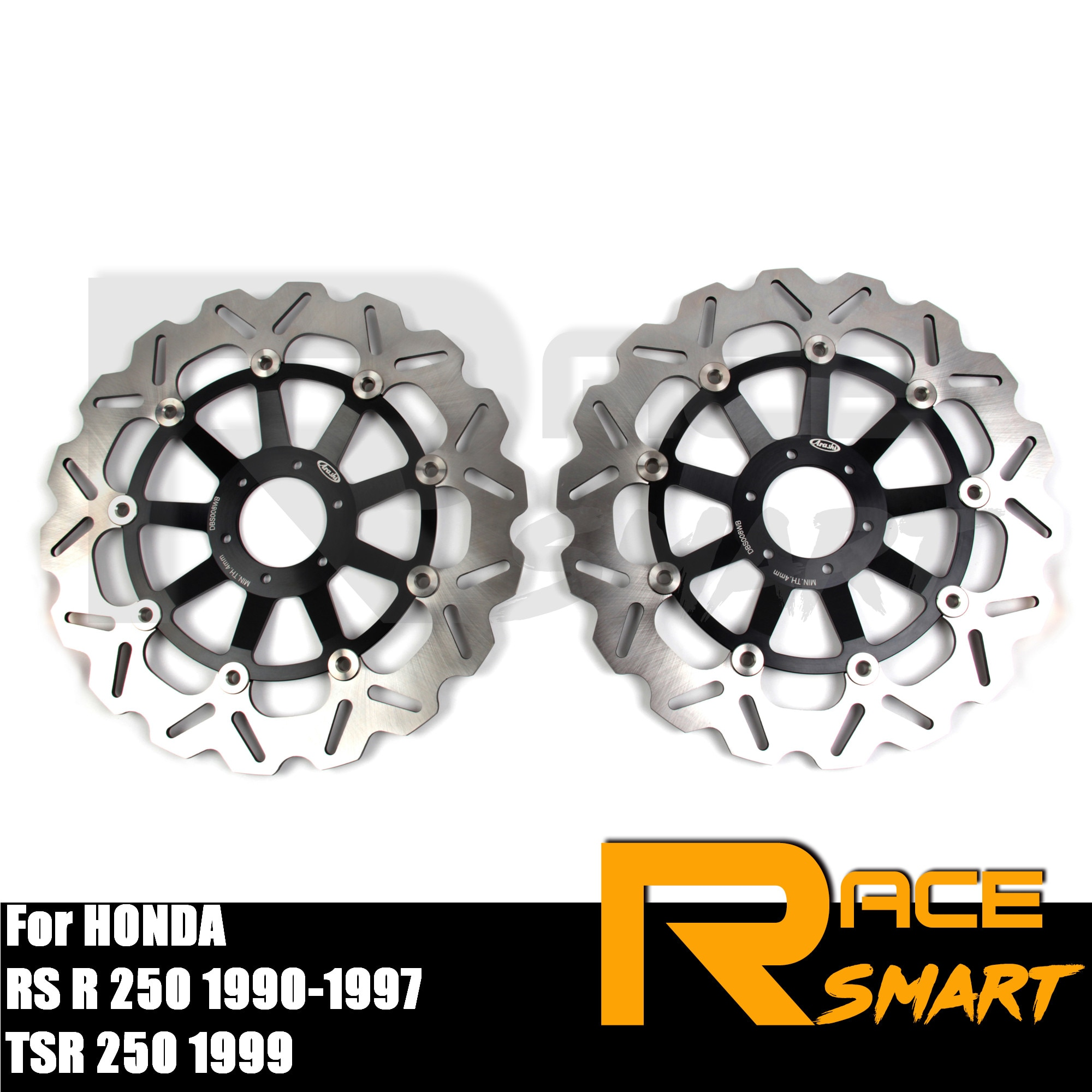 Discos de freno delantero CNC para motocicleta, Rotor de freno de acero inoxidable para HONDA TSR 250 1999 VTEC 400 1999 - 2015 v-tec400 2000 01