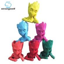 Strongwell 6 kolor Baby Groot Doll doniczka pojemnik drzewo człowiek długopis doniczka Galaxy Marvel Home Decoration prezent 15CM