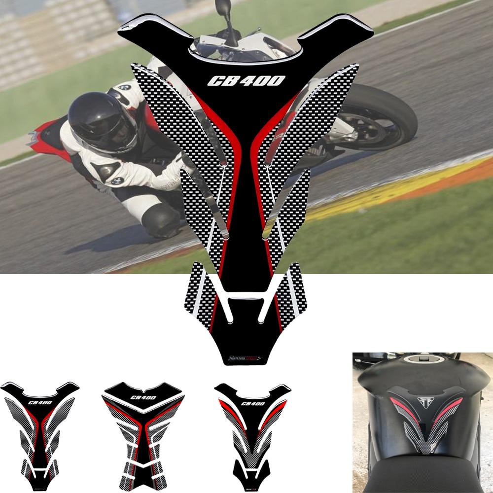 ForHonda CB400Pegatina 3D para motocicleta de almohadilla de tanque de aceite y...