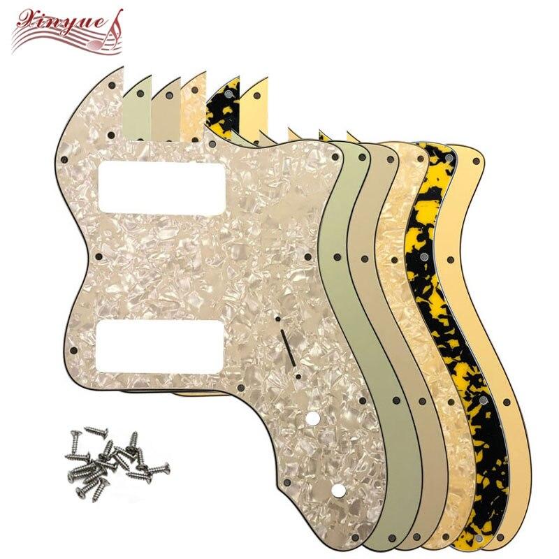 Pleroo гитарные части для 13 отверстий Классический серия '72 Telecaster Thinline гитара накладка с P90 хамбакер звукосниматели царапины пластины
