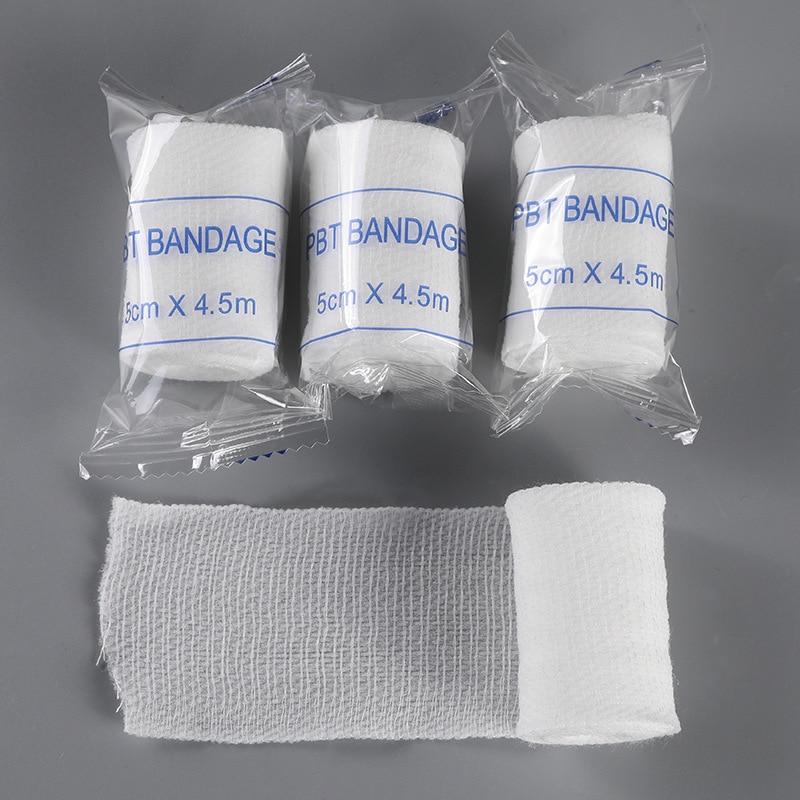Cotton PBT Elastic Bandage Skin Friendly Breathable First Aid Kit Gauze Wound Dressing Medical Nursing Emergency Care Bandage