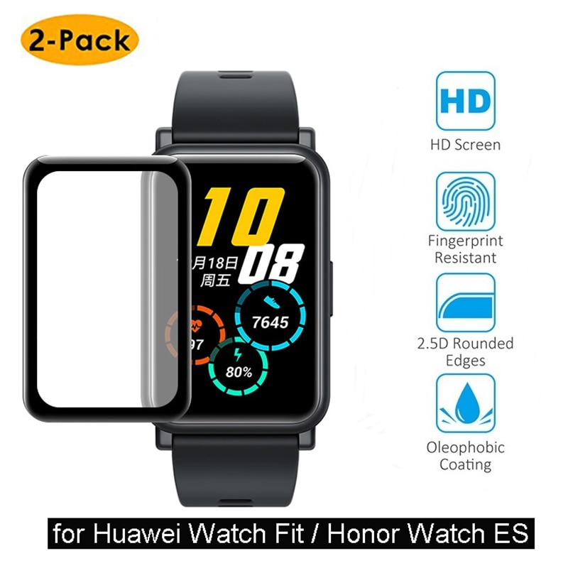 2pcs Soft Protective Film Cover for Huawei Watch Fit /Honor Watch ES Screen Protector Film 3D Curved Full Edge Smartwatch Case tpu soft silicone soft full screen glass protector case shell frame for huawei honor es watch fitting plating protective cover