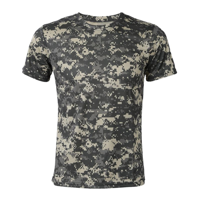 Новая наружная охотничья камуфляжная футболка, Мужская дышащая Боевая футболка, сухая Спортивная камуфляжная Camo Camp Tees-ACU Green XXXL