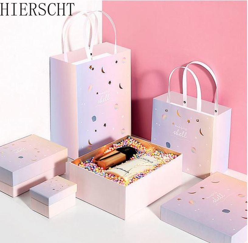 Flor de cerejeira padrão de jóias caixa de presente retangular caixa de presente com mão caixa de presente colar caixa de anel caixa de presente de natal embalagem