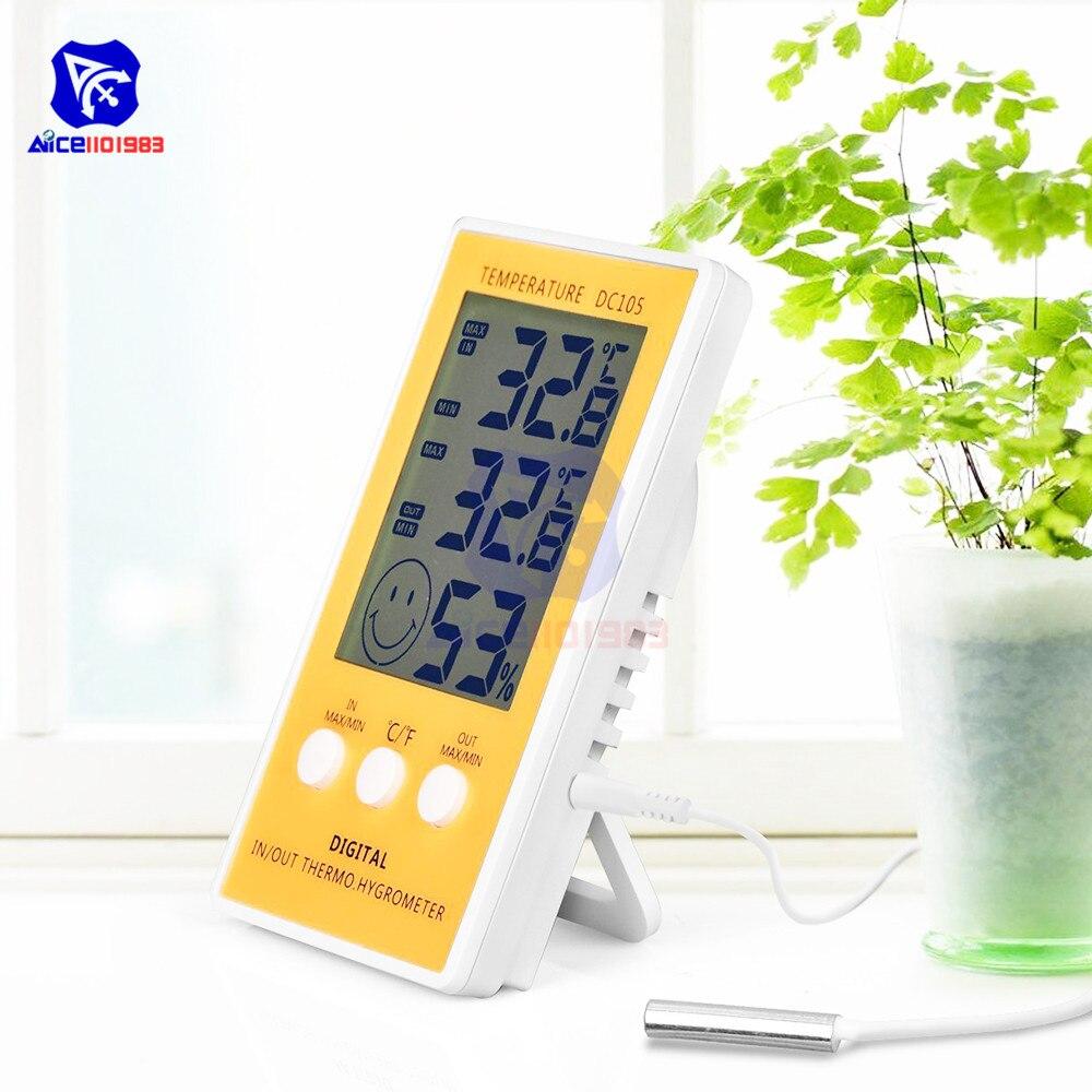 Цифровой гигрометр diymore, ЖК-термометр с датчиком температуры для дома и офиса