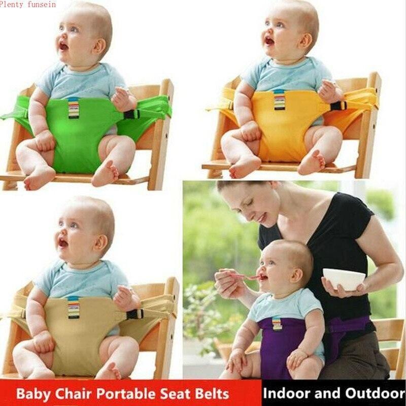 Кресло для кормления ребенка, портативное детское кресло-бустер, детское сиденье BB, безопасное питание, длинный пояс, аксессуары для кроват...