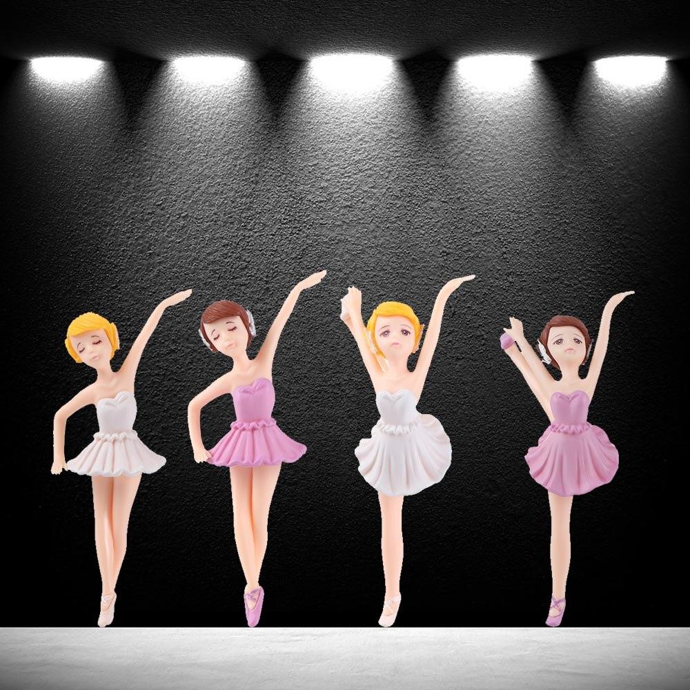 Figura de bailarina en miniatura, 1 unidad de 2020, niña, Micro adorno de paisaje, niña bailando en miniatura, casa de muñecas, jardín, decoración de artesanía de resina
