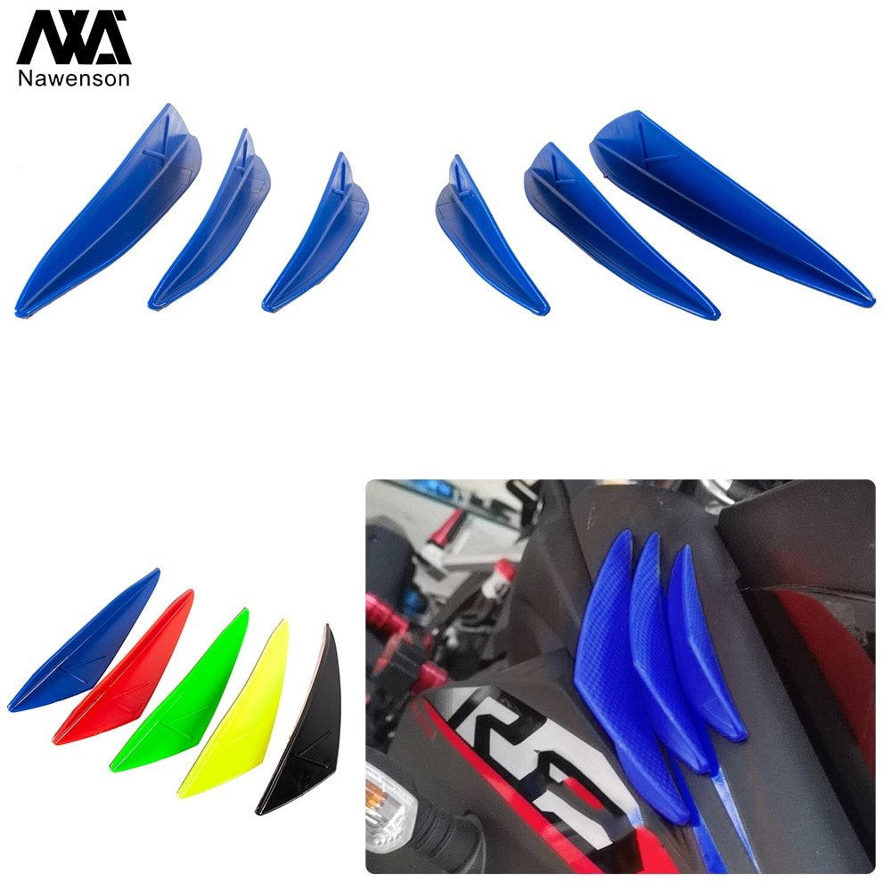 Alerones laterales aerodinámicos para carenado delantero de motocicleta, Kit decorativo dinámico de alas para bicicleta deportiva